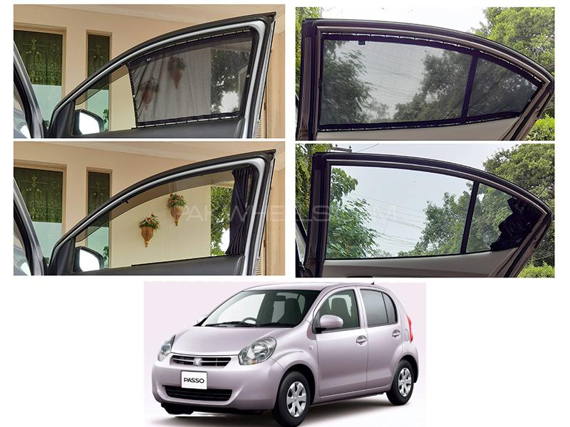 Awra Foldable Fitting Curtain Black Shades For Toyota Passo 2010-2016 in Lahore