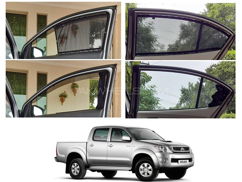 Awra Foldable Fitting Curtain Black Shades For Toyota Hilux 2005-2012 in Lahore
