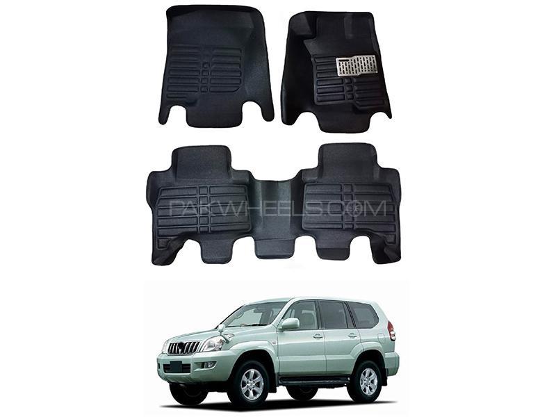 5D Custom Floor Mats Black For Toyota Prado 2002-2009 in Karachi