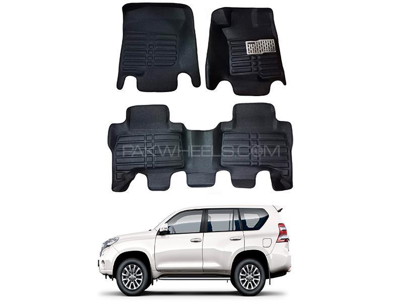 5D Custom Floor Mats Black For Toyota Prado 2009-2020 in Karachi