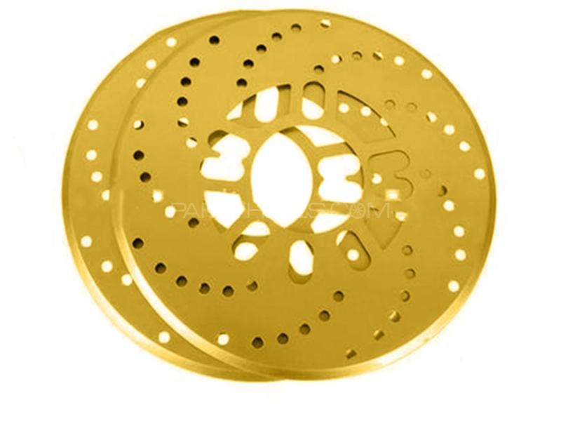Universal Wheel Disc Brake Cover - Golden  in Karachi