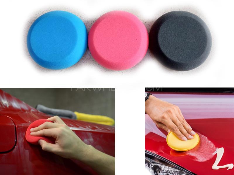 Car Wax Foam Applicator Multipurpose Pads Pack Of 5  Image-1