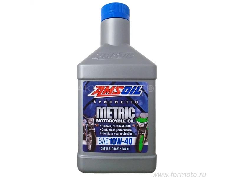 Amsoil 10w40 Metric Motor Cycle Premium Synthetic Engine Oil 946ml Image-1