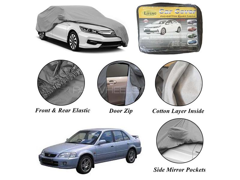 Honda City 2001-2003 Non Wooven Inner Cotton Layer Car Top Cover  Image-1