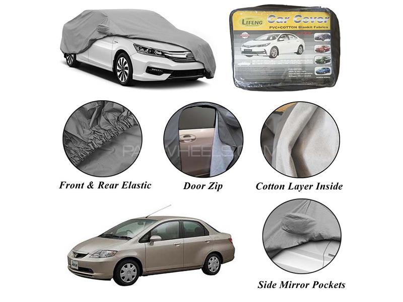 Honda City 2006-2008 Non Wooven Inner Cotton Layer Car Top Cover  Image-1
