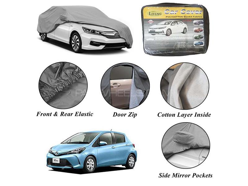 Toyota Vitz 2011-2017 Non Wooven Inner Cotton Layer Car Top Cover  Image-1