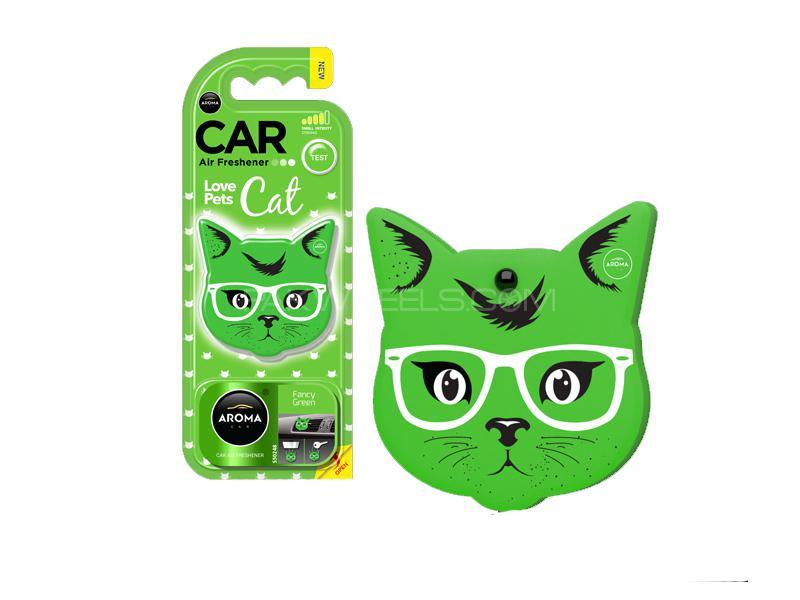 Aroma Car Pet Love Cat Fancy Green Image-1
