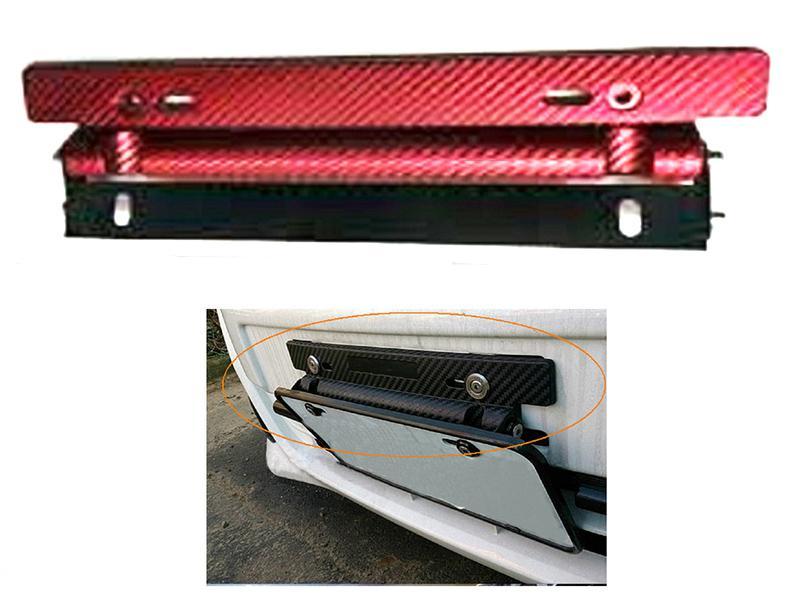 Universal License Plate Tilter - Red Image-1