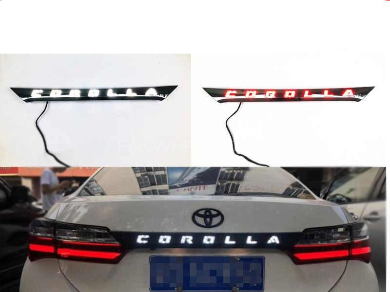 Toyota Corolla Trunk Chrome Garnish With Drl 2014-2020 Image-1