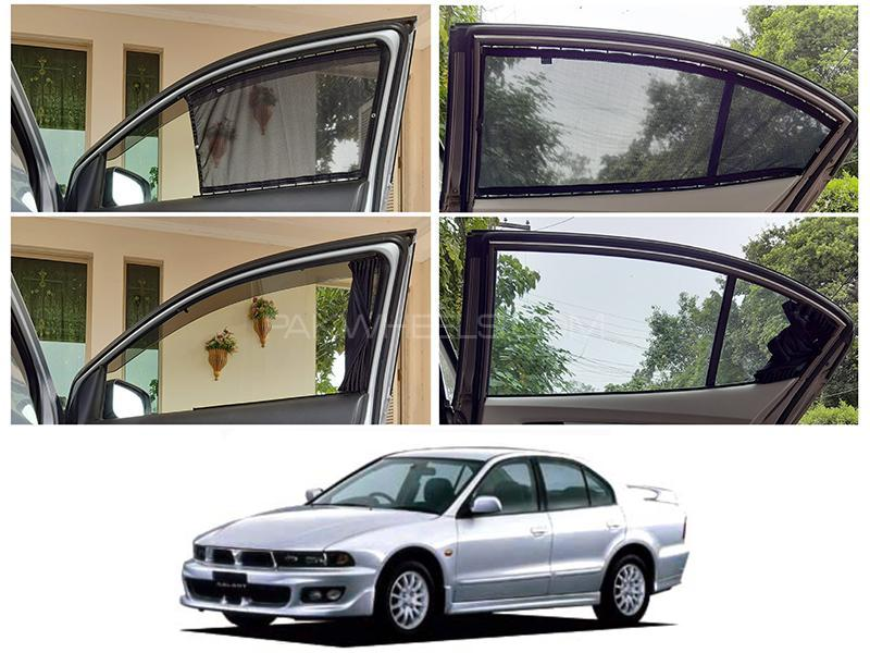 Awra Foldable Fitting Curtain Black Shades For Mitsubishi Galant 1992-1998 in Lahore