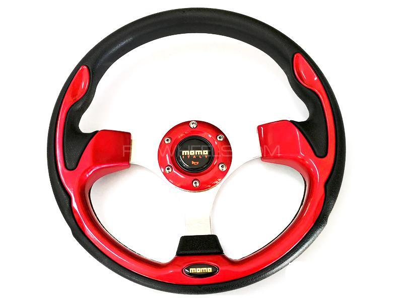Momo Steering Wheel For Honda - Red Image-1