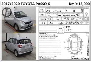Used Toyota Passo X 2017