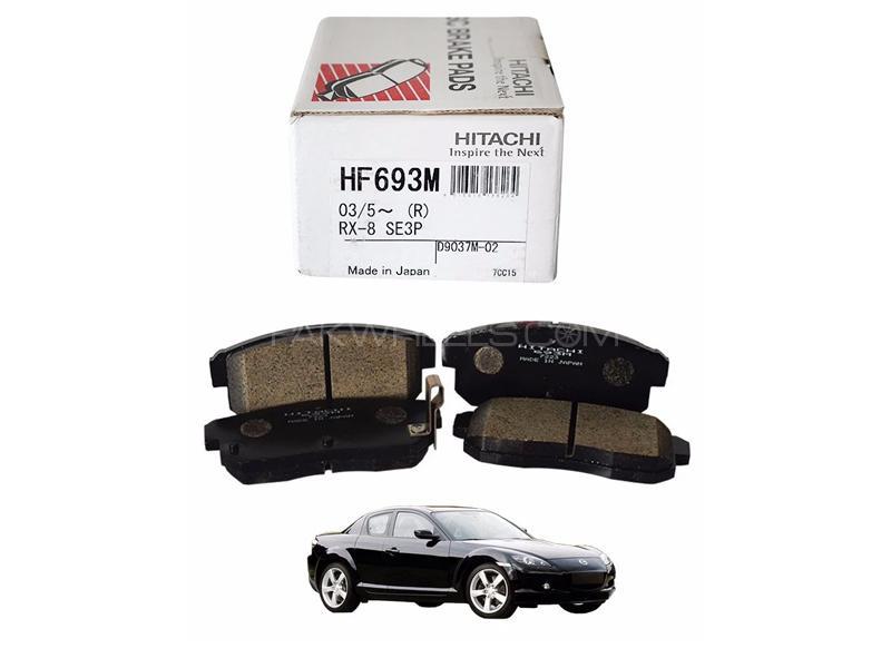 Hitachi Rear Brake Pad For Mazda Rx8 2003-2012 - HF693M Image-1