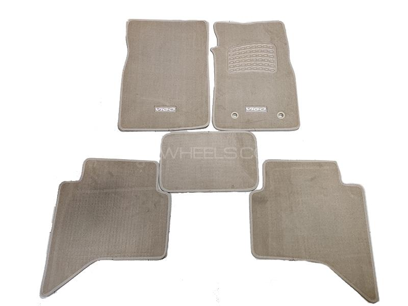 Toyota Vigo 2009-2014 Carpet Mats Oem Finish Anti Slip Beige 5pcs in Lahore