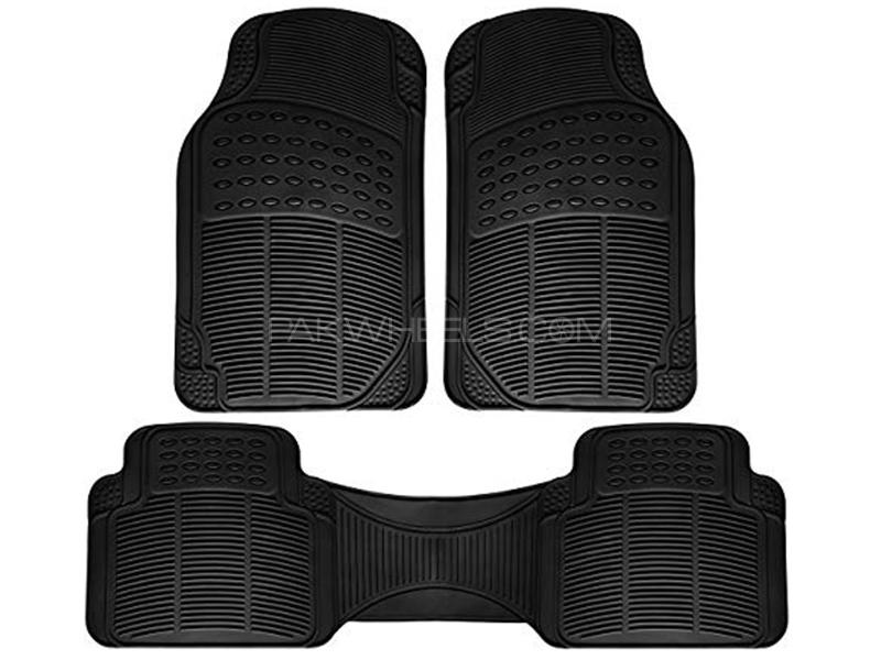 Universal PVC Floor Mats - Black Image-1