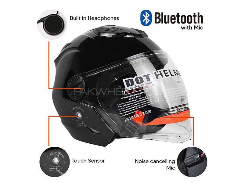 Smart Built In Bluetooth Bike Helmet GB811- Black Medium Size in Karachi
