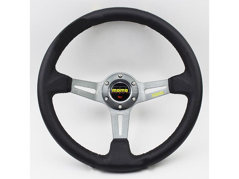 Universal Deep Steering Wheel Silver Image-1