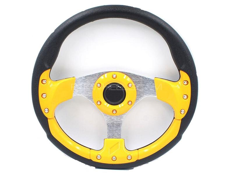 Momo Steering Wheel For Suzuki - Yellow in Karachi