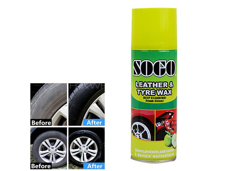 Sogo Leather And Tyre Wax 250ml - Green Apple in Karachi