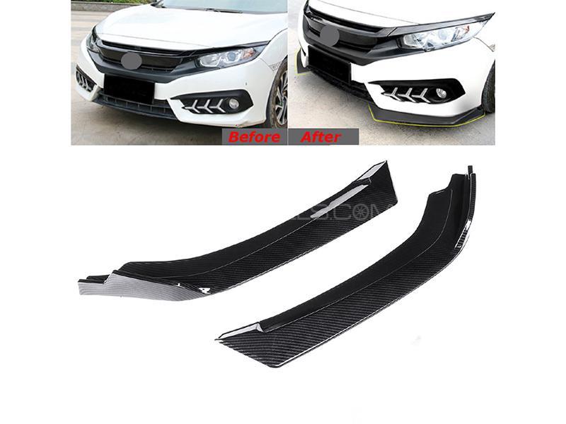 Honda Civic 2016-2020 Front Bumper Lip - Carbon Fiber Image-1
