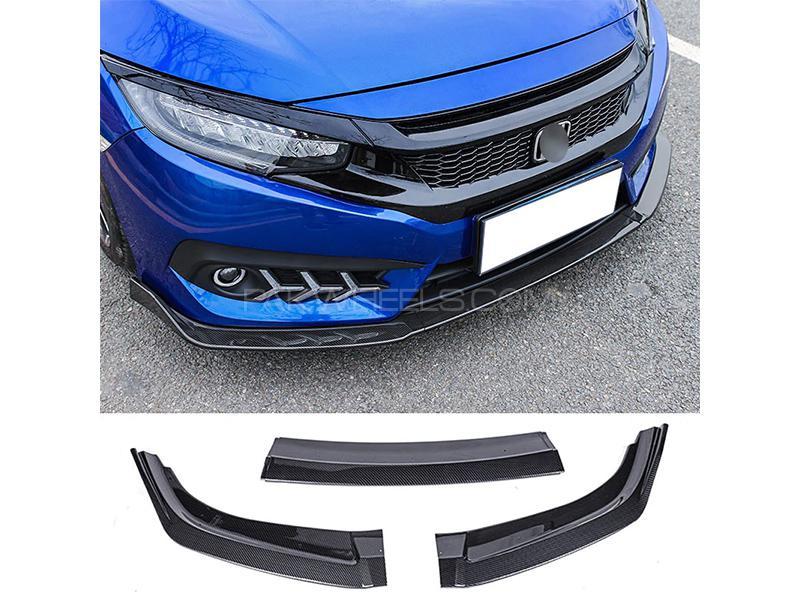 Honda Civic 2016-2020 Front Bumper Lip - Plain Black in Karachi