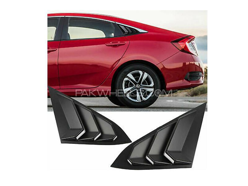 Honda Civic 2016-2020 Quarter Glass Rack - Gloss Black Image-1
