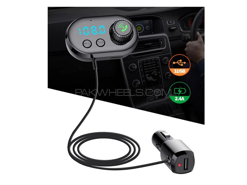 Car Q16 Mp3 Bluetooth Transmitter Player With Air Freshener Image-1