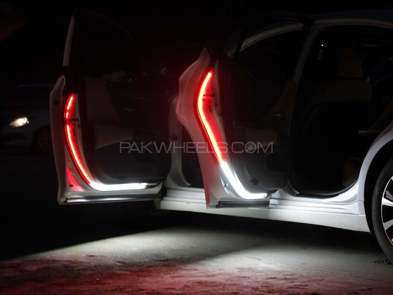 Car Door Warning Light Dual Colors and Flash Image-1