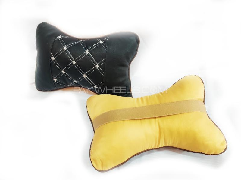 Seat Neck Rest Fabric Cushion Two Ton D3 Image-1