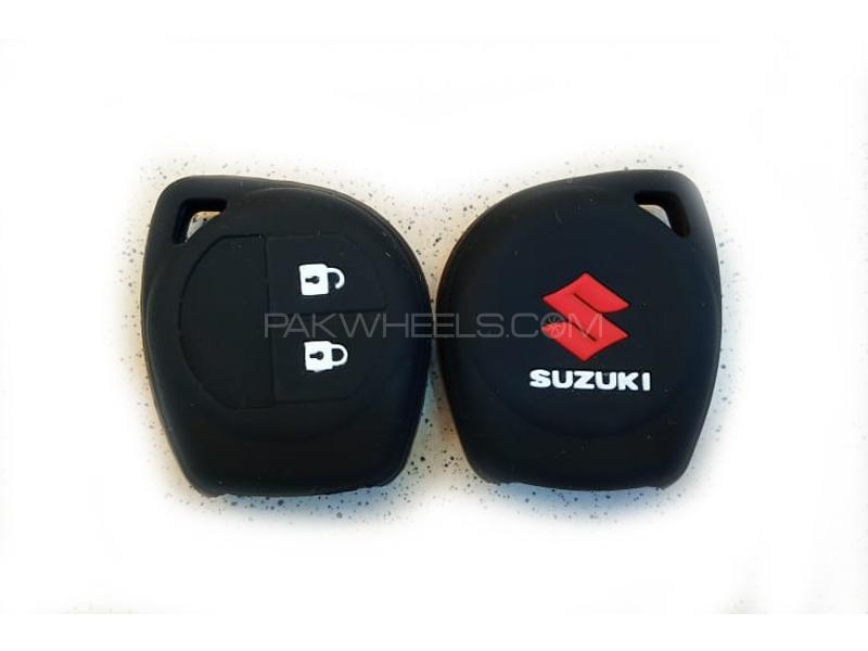 Suzuki Wagon R 2014-2020 Soft Silicone Key Cover Black Image-1