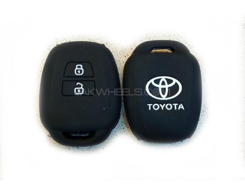 Toyota Vitz 2010-2012 Soft Silicone Key Cover Black in Lahore