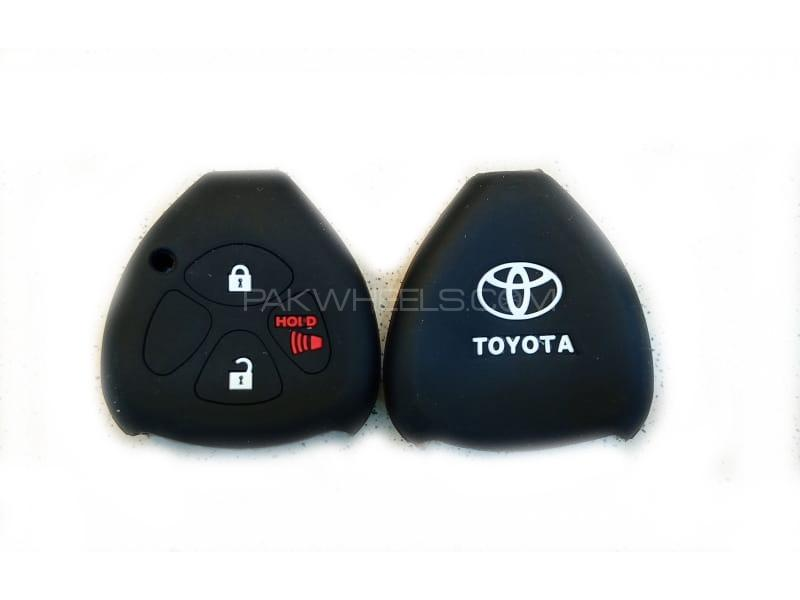 Toyota Corolla 2009-2012 Soft Silicone Key Cover Black in Lahore