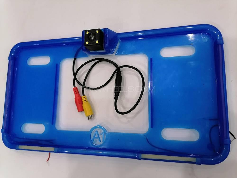 car Neon LED Number Plate Frame With Camera Option Image-1