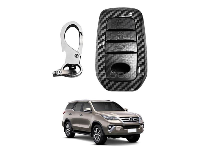 Toyota Fortuner 2016-2021 Carbon Key Cover  in Karachi