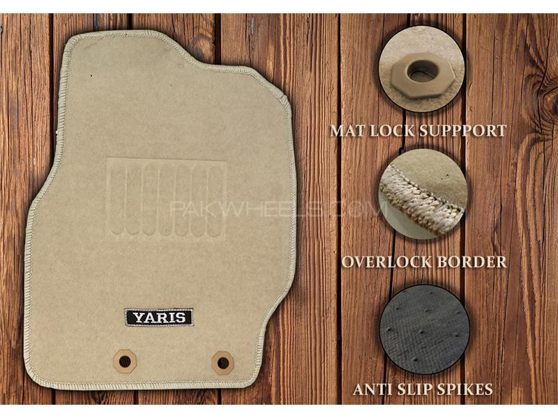 Toyota Yaris 2020-2021 Genuine Shape High Quality Carpet Mats - Beige in Karachi
