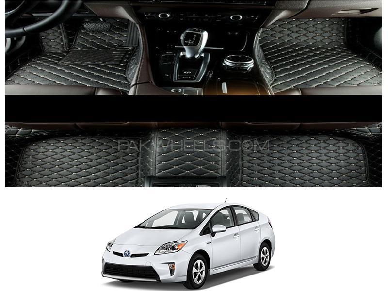 Toyota Prius 2011-2015 7D Floor Mats - Black  in Karachi
