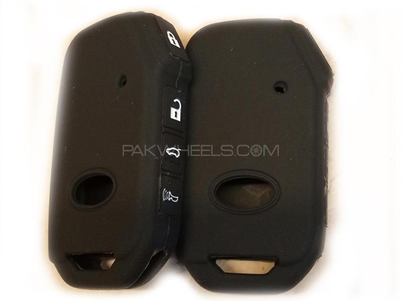 Toyota Prius Alpha Soft Silicone Key Cover Black in Lahore