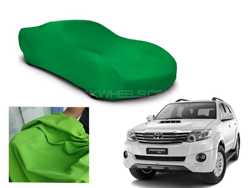 Toyota Fortuner 2013-2016 Microfiber Coated Anti Scratch And Anti Swirls Water Resistant Top Cover Image-1