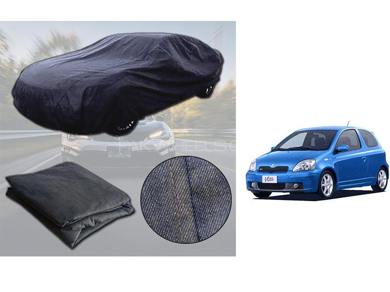 Toyota Vitz 1998-2005 Denim Double Stitched Top Cover  Image-1