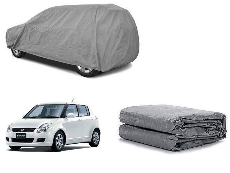Suzuki Swift 2010-2021 PVC Cotton Fabric Top Cover - Grey  in Karachi