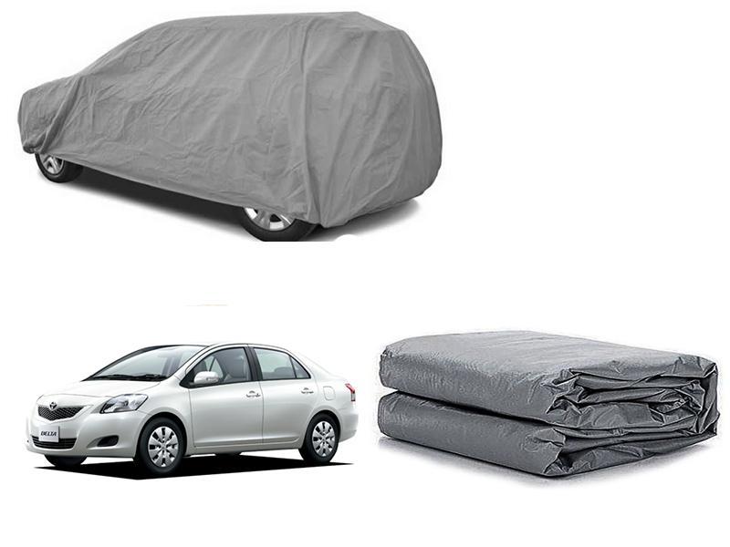 Toyota Belta 2005-2012 PVC Cotton Fabric Top Cover - Grey  in Karachi