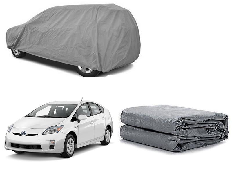 Toyota Prius 2009-2015 PVC Cotton Fabric Top Cover - Grey  Image-1