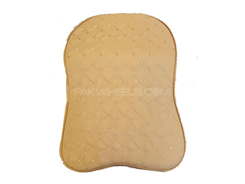 2 Pcs Car Neck Back Rest Long Cushion With Memory Foam Beige in Lahore