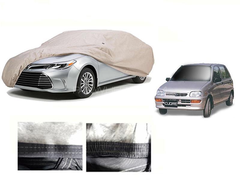 Daihatsu Cuore 2000-2012 PVC Cotton Car Top Cover  in Karachi