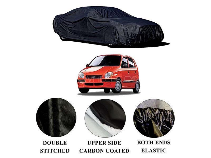 Hyundai Santro 2003-2014 Polymer Carbon Coated Car Top Cover in Karachi