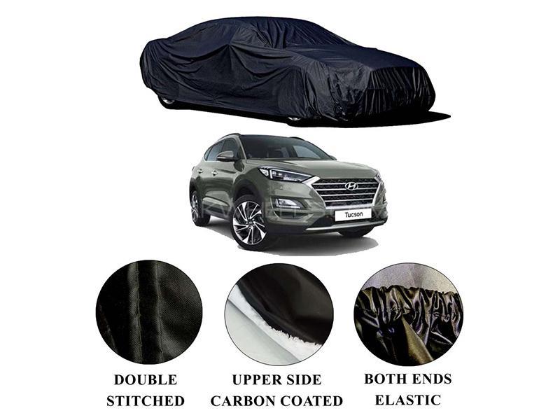 Hyundai Tucson 2020-2021 Polymer Carbon Coated Car Top Cover in Karachi