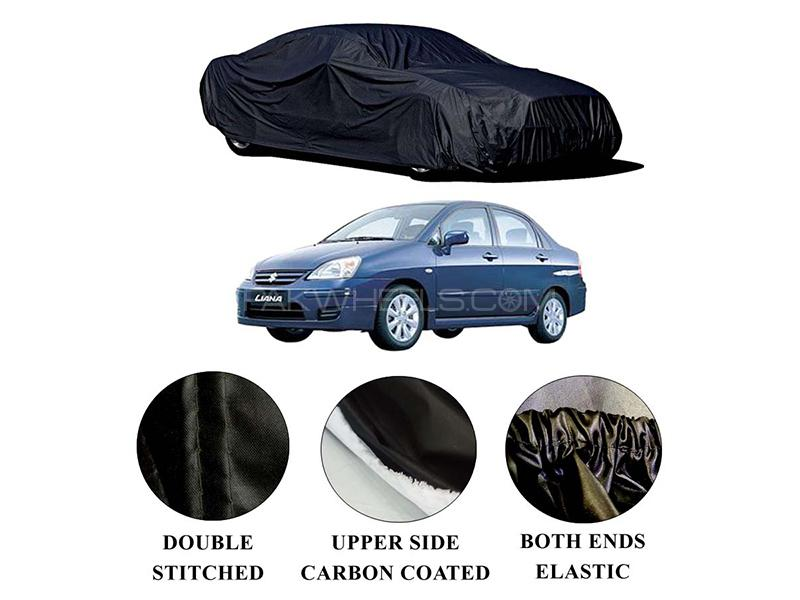 Suzuki Liana 2006-2014 Polymer Carbon Coated Car Top Cover in Karachi