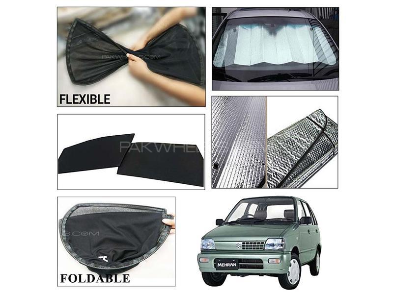 Suzuki Mehran 1988-2019 Foldable Shades And Front Silver Shade - Bundle Pack  in Karachi