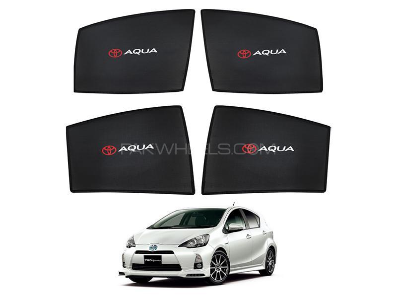 Toyota Aqua 2013-2021 Foldable Sun Shades With Logo  in Karachi