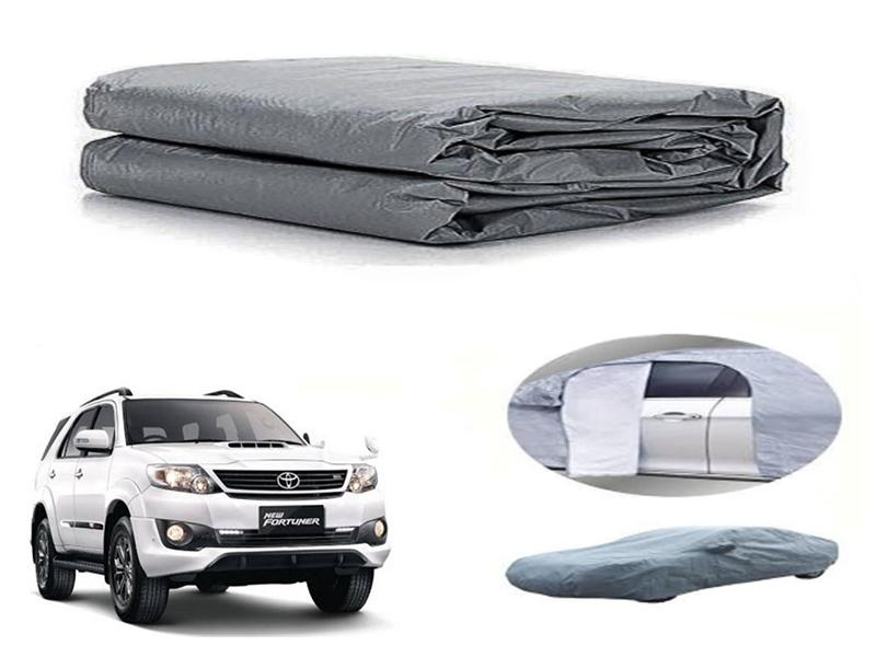 Toyota Fortuner 2013-2016 PVC Cotton Fabric Top Cover - Grey  in Karachi